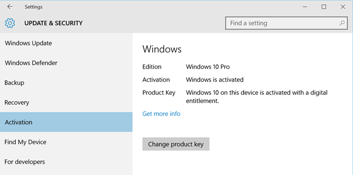 get a windows 10 product key