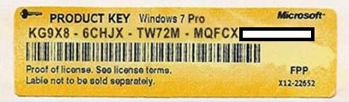windows 7 professional sp1 product key 2017